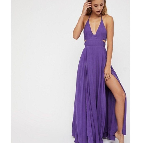 51a9a25a376 Free People Dresses   Skirts - Free People Purple Lille Maxi Dress